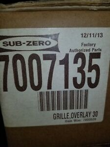 Sub-Zero  7007135 Panel Grille For 30 Inch Built-in Overlay or Flush