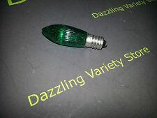 5 X E10 mes 3w 34v Verde Color estriados Vela lámpara bombilla trabajo Lote # 36