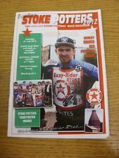 21/07/2012 Speedway Programme: Stoke Potters v Dudley Heathens (results noted).