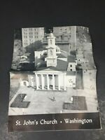St. John's Church Washington DC Vintage Souvenir Guide Pamphlet Booklet