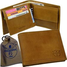 Chiemsee porte-monnaie d'hommes vintage-braun, Porte-monnaie portefeuille NEUF