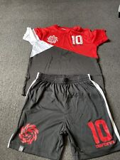 Boys Carbrini Black, Red & White Top 8-10 Years Shorts 10-12 Years
