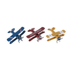 Home Decor Vintage Metal Plane Model Glider Biplane Pendant Airplane Model Toy B