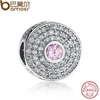 New Authentic S925 Sterling Silver Charm Radiant Splendor, Blush Pink Crystal CZ