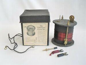 Vintage The Little Giant Crystal Radio Set in Original Box - old antique