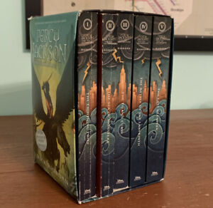 Percy Jackson And The Olympians Book Set 1-5 By Rick Riordan