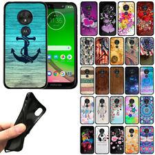"For Motorola Moto G7 Play / T-Mobile Revvlry 5.7"" TPU Black Silicone Cover Case"
