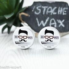 MO Bro's - Sans Parfum Cire à moustache pour toilette 15ml - paquet double