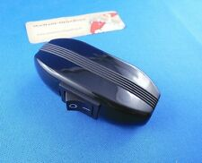 Zwischenschalter mit Wippschalter 1 polig 6A 250V, Schwarz