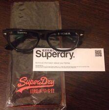 Superdry Kloe-P Rectangular Eye glasses spectacles frames Black pouch mens bn