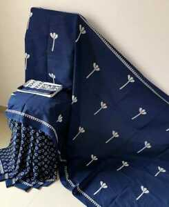 Indian Ethnic Designer Sari, Handlooms Printed Cotton Saree For Women & Blouse