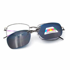 Polarized Magnetic Clip-on Sunglasses Glasses Frames Rx Flexible Metal Mens I635
