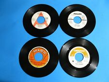"""Lot of 4 Promo 45 Records 60's VG- Unused Condition Jazz Soul 7"""""""