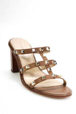 Villa Rouge Womens Leather Slide On Fabiana Mules Bourbon Brown Size 7.5