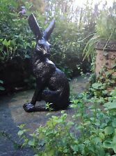 Garden Ornament Statue Bronze Effect Charming March Hare. Despatch1-2 Days.