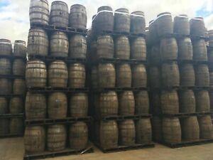 Solid Oak Whiskey Barrel Grade B Wooden Keg/Water Barrels | Pub table | Planter
