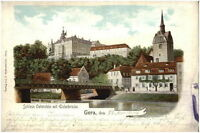 GERA Thüringen 1904 LithoAK Schloss Osterstein Elster Brücke Verlag Bettenhausen