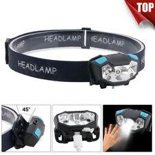 4000lm LED Headlamp Motion Sensor Headlight Rechargeable Head Torch Flashlight