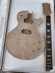 """New project electric vintage 58""""s guitar kit with flame maple top (2-3cm) by CNC"""