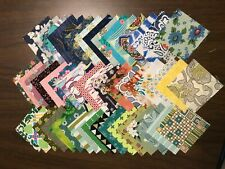 """Quilting Quality Cotton Fabric 2"""" Squares, Assorted Patterns & Colors, Charms"""