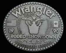 1990 WRANGLER RODEO SHOWDOWN  BELT BUCKLE LIKE NEW!