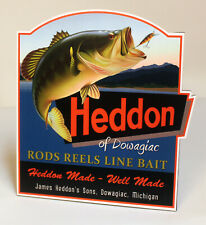 Heddon Lure Tackle Co Dowagiac Michigan Stand-up Advertising Sign