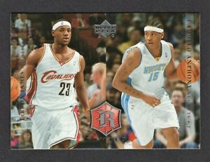 2004 Upper Deck Rivals LeBron James / Carmelo Anthony #30 - Future Hall of Fame