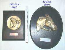 2x Pferdekopf Medaille auf Holz Pferdezüchter Pferd Reitverein Horse Head o Wood