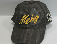 Disney Mickey Mouse Baseball Cap Hat Brown All Mesh Snap Back Adjustable