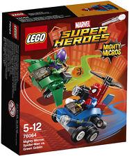 Lego Marvel Super Heroes Spider-Man vs Green Goblin Mighty Micros Set NIB 85 Pcs