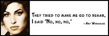 Wall Quote - Amy Winehouse - They tried to make me go to rehab, I said 'No, no,