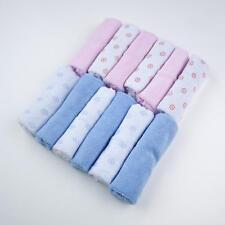 Pack de 12 baby kids soft wash cloth bain alimentation serviette flanelle essuyer
