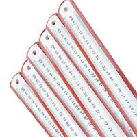 1Pcs Stainless Steel Metal Rule metric & imperial 600mm long Engineers Ruler La