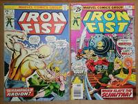Iron Fist #4 and #5--Sabertooth-Marvel Premiere-Bronze-