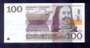 Netherlands 100 Gulden  1970   P93  XF