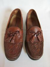 Johnston & Murphy Halsey Kiltie Tassel Brown Leather Loafer Slip On US 9.5