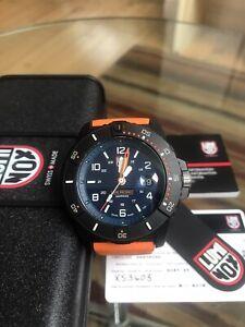 NEW Genuine Luminox 3603 Orange Strap Quartz Watch  Men's Navy Seal 3600 Series