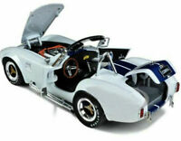 1965 SHELBY COBRA 427 S/C WHITE W/BLUE STRIPES 1:18 BY SHELBY COLLECTIBLES SC115