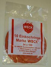 Weck Einkochringe Einmachgummis 94x108 Rr100