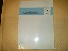 Manual: Mercedes / Daimler Benz, Functional Description Automatic Transmissions