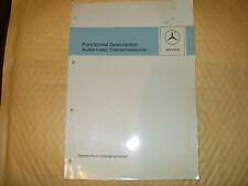 Manual: Mercedes / Daimler Benz, Functional Description Automatic Transmissions