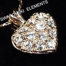 Collares y colgantes de bisutería cristal oro rosa de cristal
