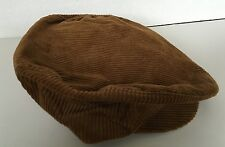 Vintage Union Made Gatsby Newsboy Cabbie Mens Hat Large Brown Corduroy Cap