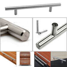 20X Brushed Steel T Bar Handles Kitchen Cabinet Door Cupboard Drawer Bedroom NEW