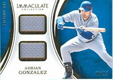 2016 Immaculate Adrian Gonzalez Dual Game Worn Jersey Card #'d /99 - Dodgers