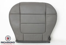 2001 2002 Ford F150 Lariat Flare Step Side-Driver Bottom Leather Seat Cover Gray