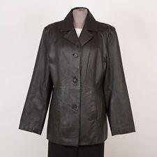 Women's Leather Jacket Size L Large Black SONOMA