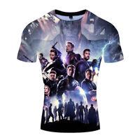 Marvel Avengers 4 Endgame Printed T-Shirt Short Sleeve Summer Slim Fit Tee Tops