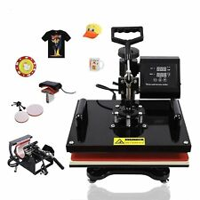 5 in 1 Heat Press Machine Transfer Sublimation Cap T-Shirt Hat Printing 15