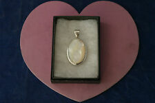 Superb 925 Silver Pendant With Faceted M .Of .P.14.7 Gr. 4.5 x 3 Cm. Wide In Box
